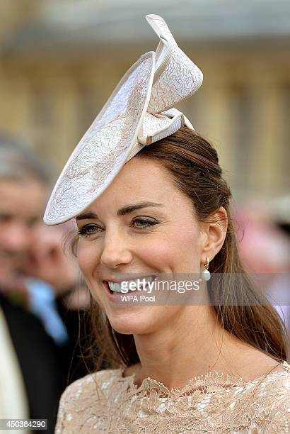 Catherine Duchess of Cambridge attends a garden party held at Buckingham Palace on June 10 2014 in London England