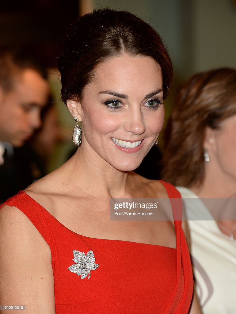 Catherine Duchess of Cambridge attends a Goverment of British Columbia reception at Government House on September 26, 2016 in Victoria, Canada.