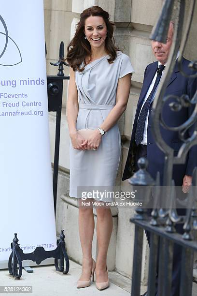Catherine Duchess of Cambridge attends a lunch in support of the Anna Freud Centre at Spencer House on May 04 2016 in London England