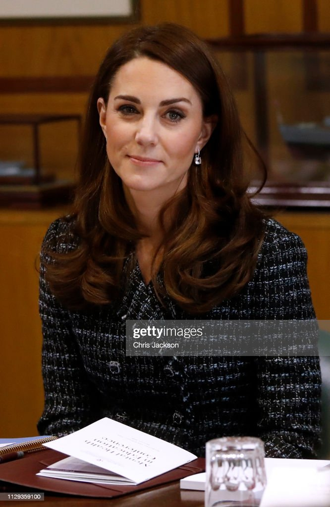 Duchess Of Cambridge Attends 'Mental Health In Education' Conference : News Photo