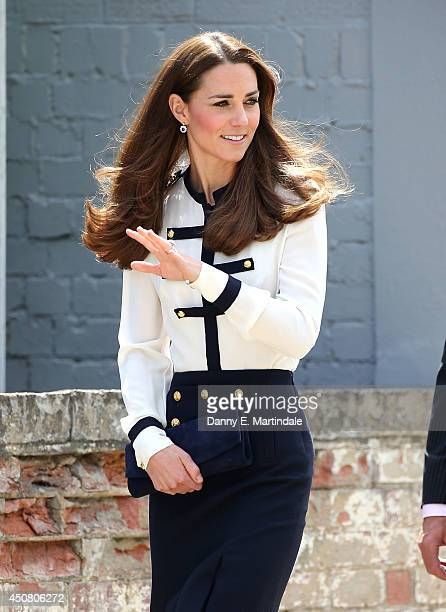 Catherine Duchess of Cambridge attends a official visit to Bletchley Park on June 18 2014 in Bletchley England