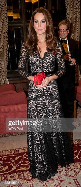 Catherine, Duchess of Cambridge attends a Reception and Dinner in aid of the University of St. Andrews 600th Anniversary Appeal at Middle Temple Hall...
