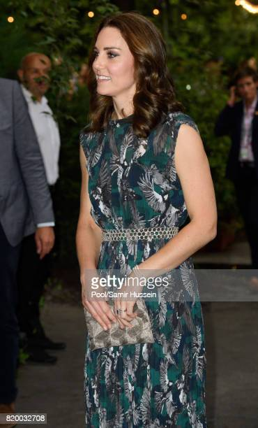 Catherine Duchess of Cambridge attends a reception at Claerchen's Ballhaus dance hall during an official visit to Poland and Germany on July 20 2017...