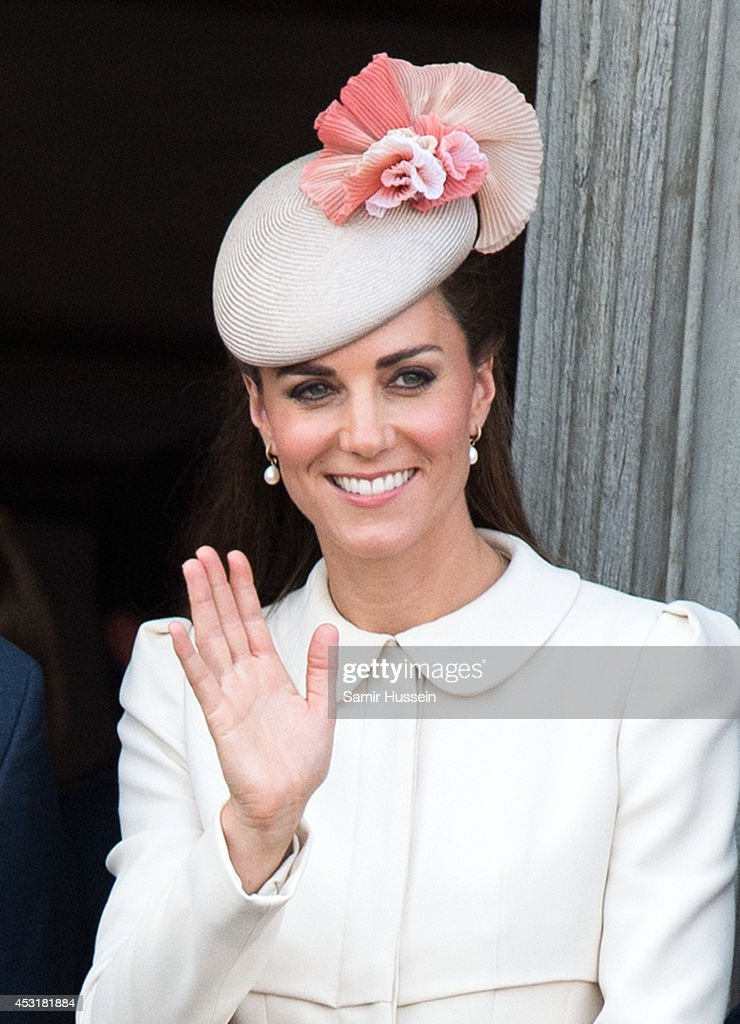 Catherine, Duchess of Cambridge attends a reception at the Grand Place on August 4, 2014 in Mons, Belgium. Monday 4th August marks the 100th Anniversary of Great Britain declaring war on Germany. In 1914 British Prime Minister Herbert Asquith announced at 11pm that Britain was to enter the war after Germany had violated Belgium's neutrality. The First World War or the Great War lasted until 11 November 1918 and is recognised as one of the deadliest historical conflicts with millions of casualties. A series of events commemorating the 100th Anniversary are taking place throughout the day.
