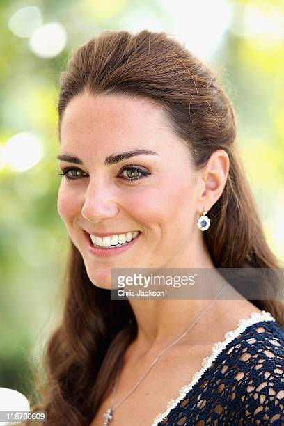 Catherine, Duchess of Cambridge attends a reception to mark the Launch of Tusk Trust's US Patron's Circle on July 10, 2011 in Santa Barbara,...