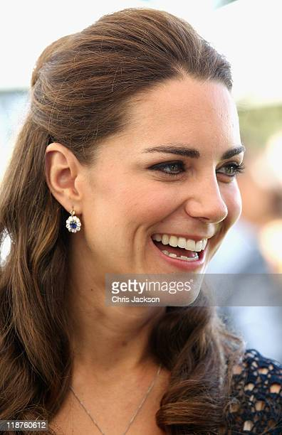 Catherine Duchess of Cambridge attends a reception to mark the Launch of Tusk Trust's US Patron's Circle on July 10 2011 in Santa Barbara California...