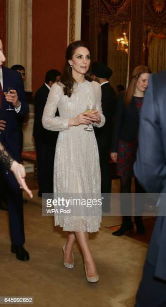 Catherine Duchess of Cambridge attends a reception to mark the launch of the UKIndia Year of Culture 2017 on February 27 2017 in London England