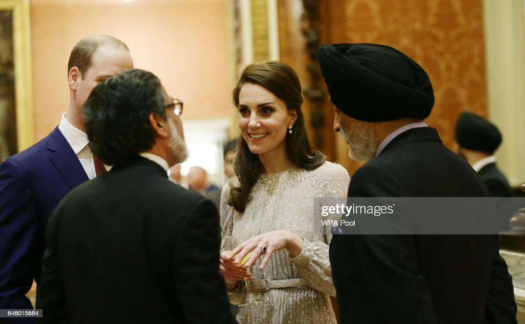 Catherine, Duchess of Cambridge attends a reception to mark the launch of the UK-India Year of Culture 2017 on February 27, 2017 in London, England.