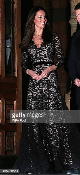 Catherine, Duchess of Cambridge attends a screening of David Attenborough's Natural History Museum Alive 3D at Natural History Museum on December 11,...