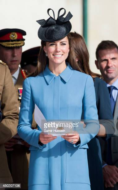 Catherine Duchess of Cambridge attends a service during the DDay 70 Commemorations on June 6 2014 in Arromanches Les Bains France