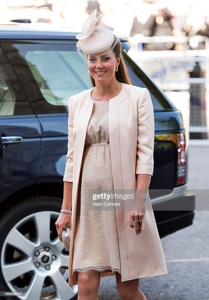 Catherine, Duchess of Cambridge attends a service marking the 60th anniversary of the Queen's coronation at Westminster Abbey on June 4, 2013 in London, England.