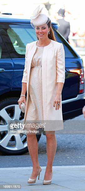 Catherine Duchess of Cambridge attends a service of celebration to mark the 60th anniversary of the Coronation of Queen Elizabeth II at Westminster...