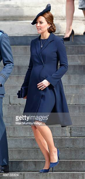 Catherine Duchess of Cambridge attends a Service of Commemoration to mark the end of combat operations in Afghanistan at St Paul's Cathedral on March...
