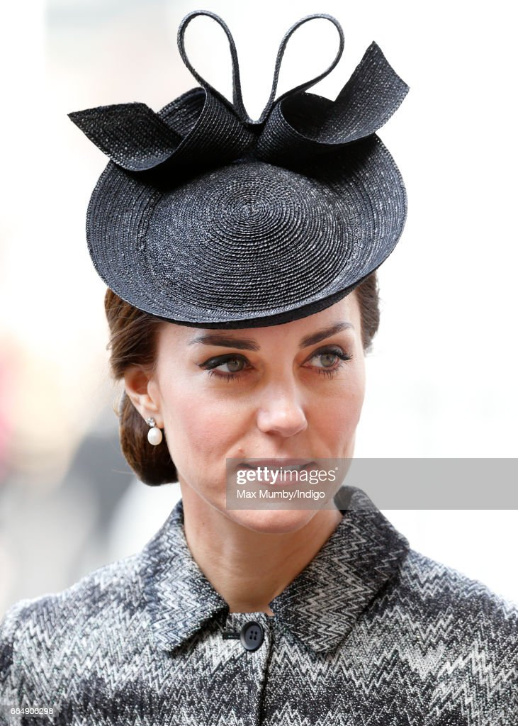 Catherine, Duchess of Cambridge attends a Service of Hope at Westminster Abbey on April 5, 2017 in London, England. The multi-faith Service of Hope was held for the four people killed when Khalid Masood committed an act of terror in Westminster on Wednesday March 22. Survivors, bereaved families and members of the emergency services joined The Duke and Duchess of Cambridge, Prince Harry, the Home Secretary, Amber Rudd and London Mayor, Sadiq Khan, in the congregation.