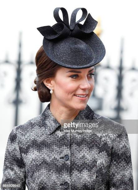 Catherine Duchess of Cambridge attends a Service of Hope at Westminster Abbey on April 5 2017 in London England The multifaith Service of Hope was...