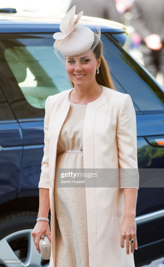 Catherine, Duchess of Cambridge attends a service to mark the 60th anniversary of the Queen's Coronation at Westminster Abbey on June 4, 2013 in London, England.