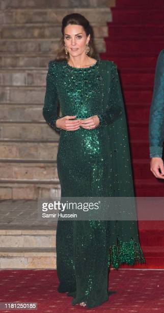 Catherine, Duchess of Cambridge attends a special reception hosted by the British High Commissioner Thomas Drew, at the Pakistan National Monument,...