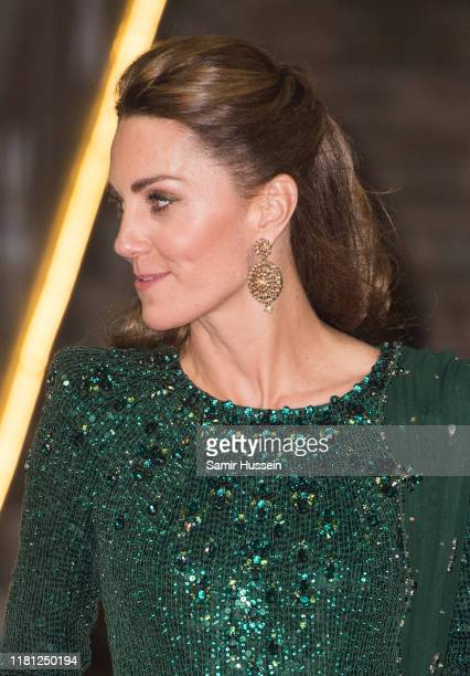 Catherine Duchess of Cambridge attends a special reception hosted by the British High Commissioner Thomas Drew at the Pakistan National Monument...
