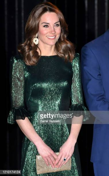 Catherine, Duchess of Cambridge attends a special reception hosted by the British Ambassador to Ireland at Storehouse's Gravity Bar on March 03, 2020...