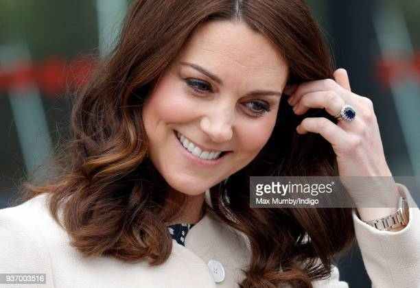 Catherine Duchess of Cambridge attends a SportsAid event at the Copper Box Arena in Queen Elizabeth Olympic Park on March 22 2018 in London England...
