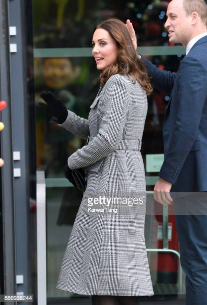 Catherine Duchess of Cambridge attends a 'Stepping Out' session at Media City on December 6 2017 in Manchester England The session is a focus group...