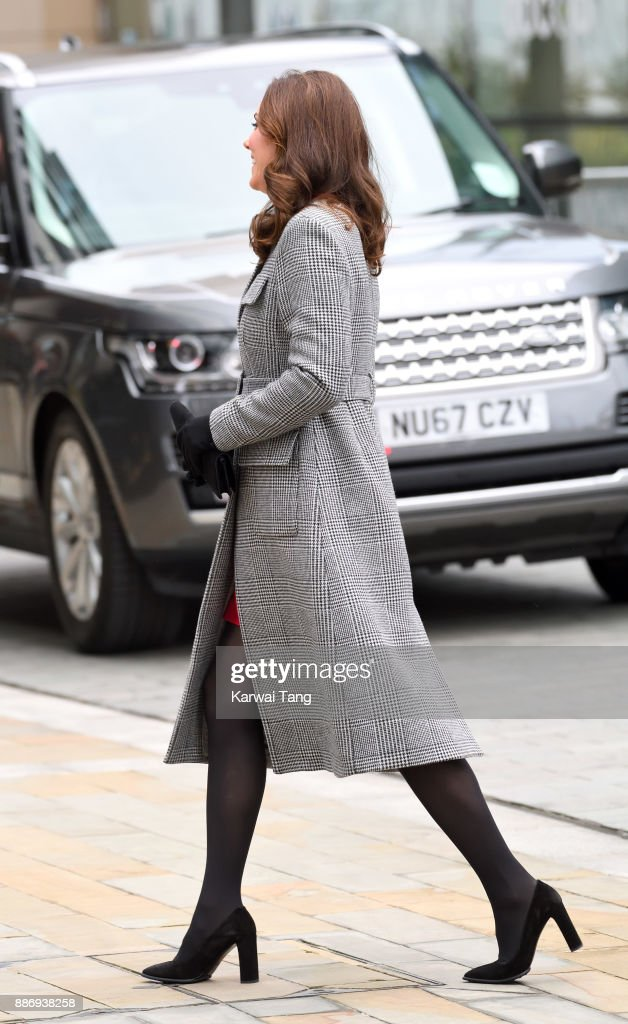 Catherine, Duchess of Cambridge attends a 'Stepping Out' session at Media City on December 6, 2017 in Manchester, England. The session is a focus group where young people are able to give children's television editorial staff and content producers their view of how they respond to new programmes under production.