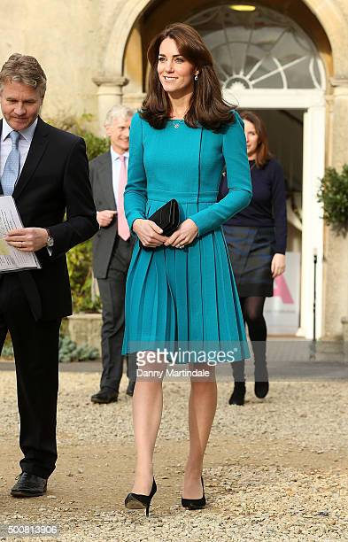 Catherine Duchess of Cambridge attends a visit to the Action on Addiction Centre for addiction treatment studies at Action on Addiction Centre on...