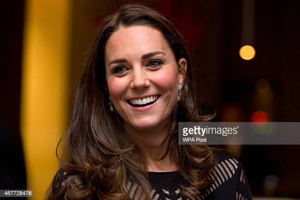 Catherine Duchess of Cambridge attends an Autumn Gala Evening in Support of Action on Addiction at L'Anima on October 23 2014 in London United Kingdom