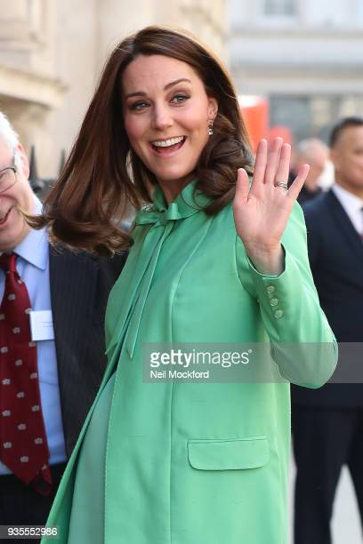 Catherine Duchess of Cambridge attends an early intervention for children and families symposium at Royal Society of Medicine on March 21 2018 in...