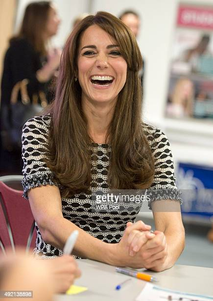 Catherine Duchess of Cambridge attends an event hosted by Mind at Harrow College to mark World Mental Health Day on October 10 2015 in Harrow England