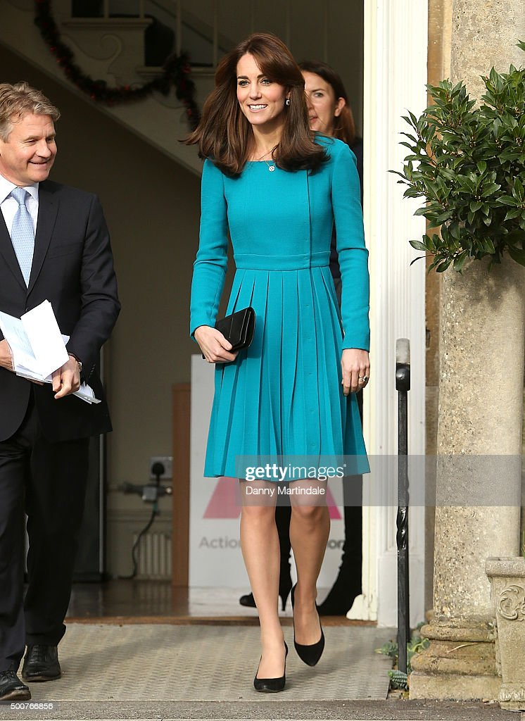 Catherine, Duchess of Cambridge attends an official visit to the Action on Addiction Centre for addiction treatment studies at Action on Addiction Centre on December 10, 2015 in Warminster, England.
