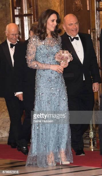 Catherine Duchess of Cambridge attends at the Royal Variety Performance at Palladium Theatre on November 24 2017 in London England