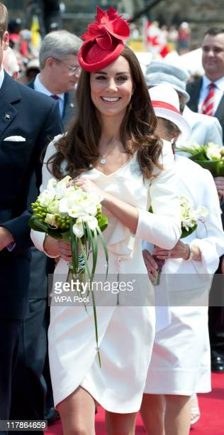 Catherine, Duchess of Cambridge attends Canada Day Celebrations at Parliament Hill on day 2 of the Royal Couple's North American Tour on July 1, 2011...