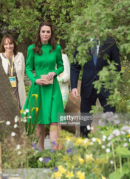 Catherine Duchess of Cambridge attends Chelsea Flower Show press day at Royal Hospital Chelsea on May 23 2016 in London England The prestigious...