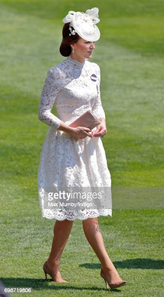 Catherine Duchess of Cambridge attends day 1 of Royal Ascot at Ascot Racecourse on June 20 2017 in Ascot England
