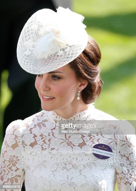 Catherine, Duchess of Cambridge attends day 1 of Royal Ascot at Ascot Racecourse on June 20, 2017 in Ascot, England.