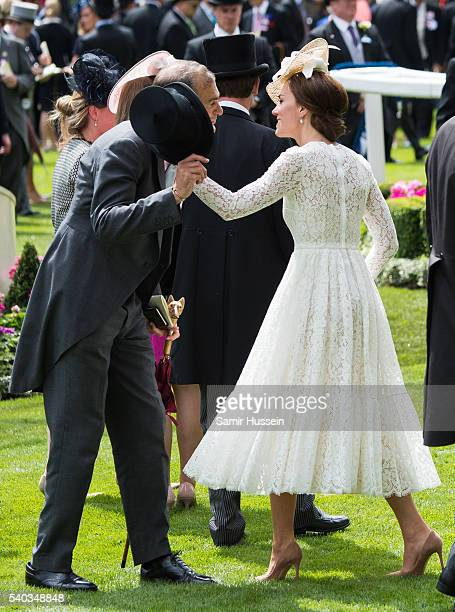 Catherine Duchess of Cambridge attends day 2 of Royal Ascot at Ascot Racecourse on June 8 2016 in Ascot England