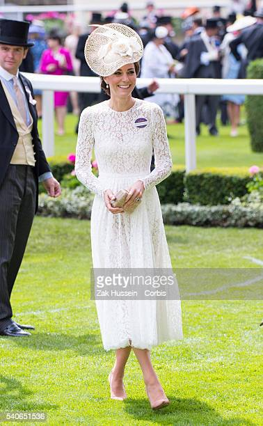 Catherine Duchess of Cambridge attends day 2 of Royal Ascot at Ascot Racecourse on June 15 2016 in Ascot England