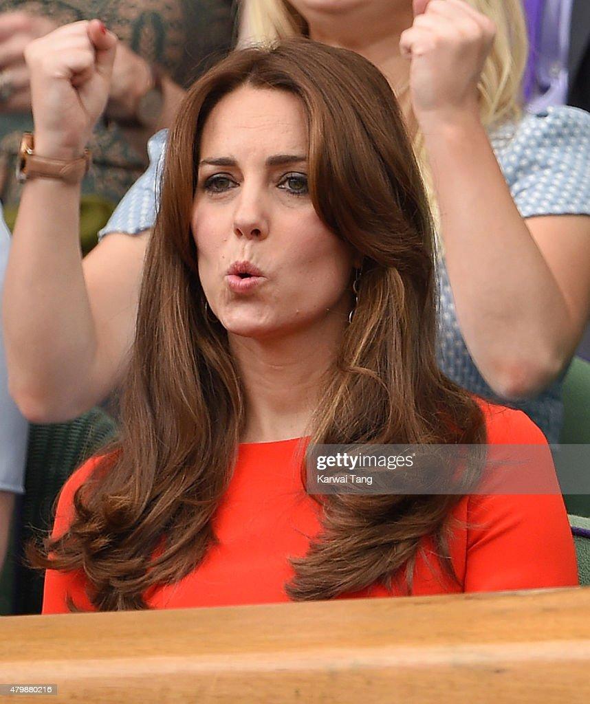 Celebrities At Wimbledon 2015 : Nachrichtenfoto