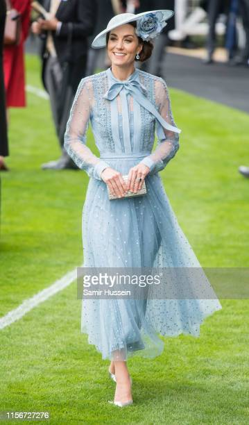 Catherine, Duchess of Cambridge attends day one of Royal Ascot at Ascot Racecourse on June 18, 2019 in Ascot, England.