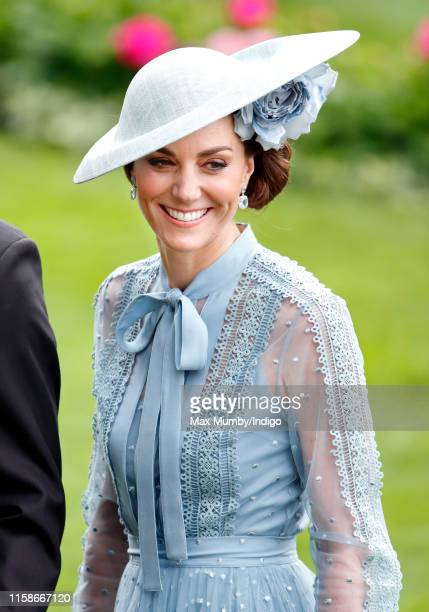 Catherine Duchess of Cambridge attends day one of Royal Ascot at Ascot Racecourse on June 18 2019 in Ascot England