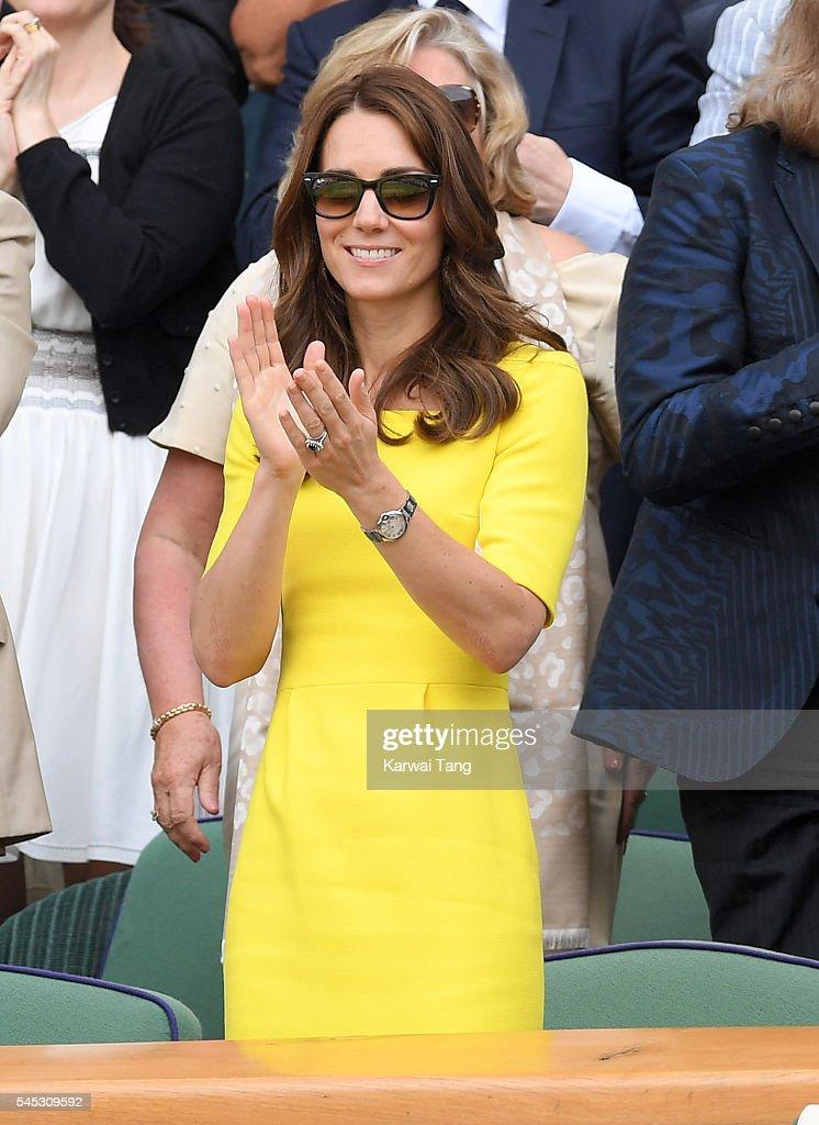 Celebrities Attend Wimbledon : Foto jornalística