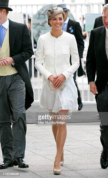 Catherine, Duchess of Cambridge attends Derby Day at the Investec Derby Festival at Epsom racecourse on June 4, 2011 in Epsom, England.