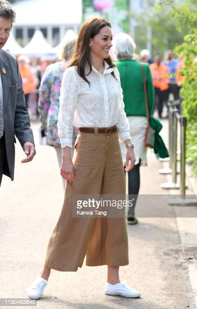 Catherine Duchess of Cambridge attends her Back to Nature Garden at the RHS Chelsea Flower Show 2019 press day at Chelsea Flower Show on May 20 2019...