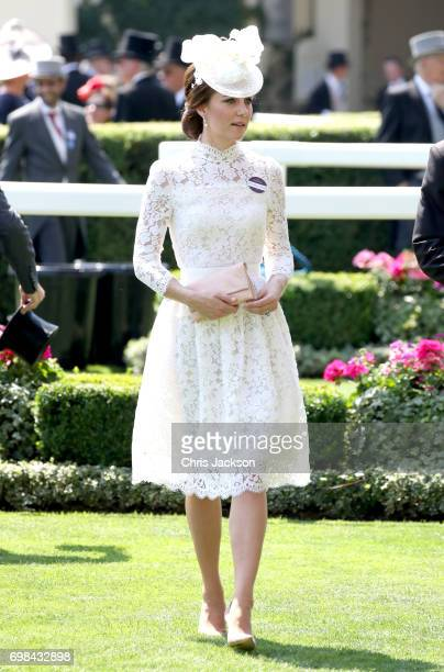 Catherine, Duchess of Cambridge attends Royal Ascot 2017 at Ascot Racecourse on June 20, 2017 in Ascot, England.