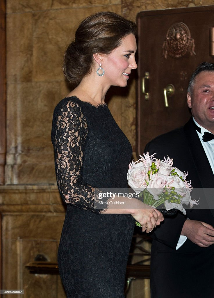 Catherine, Duchess of Cambridge attends Royal Variety Show at London Palladium on November 13, 2014 in London, England.