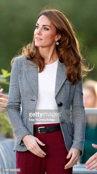 Catherine Duchess of Cambridge attends Shout's Crisis Volunteer celebration event at Troubadour White City Theatre on November 12 2019 in London...