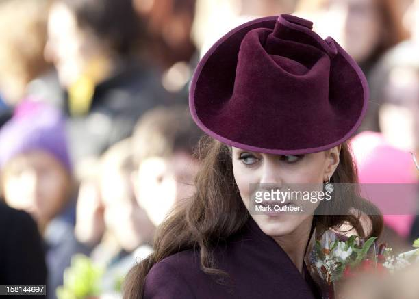 Catherine Duchess Of Cambridge Attends St Mary Magdalene Church On The Royal Estate In Sandringham Norfolk For The Christmas Day Church Service