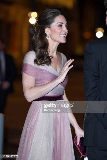 Catherine Duchess of Cambridge attends the 100 Women In Finance Gala Dinner at Victoria and Albert Museum on February 13 2019 in London England