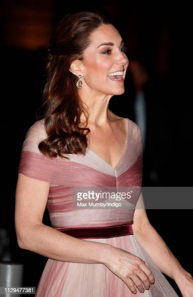 Catherine Duchess of Cambridge attends the 100 Women in Finance Gala Dinner in aid of 'Mentally Healthy Schools' at the Victoria and Albert Museum on...